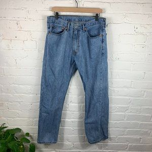 Men's Levi's 505 Regular Jeans Light Blue Size 34